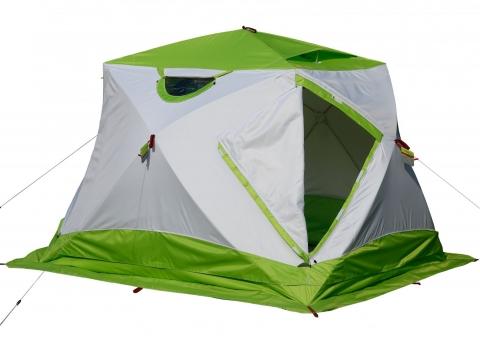 Утепленная зимняя палатка ЛОТОС Куб 4 Термо (лонг) с системой компактного сложения