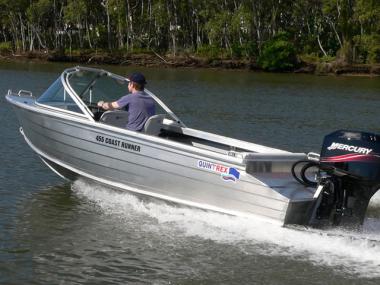 Алюминиевый катер Квинтрекс 455 Coast Runner BLADE HULL